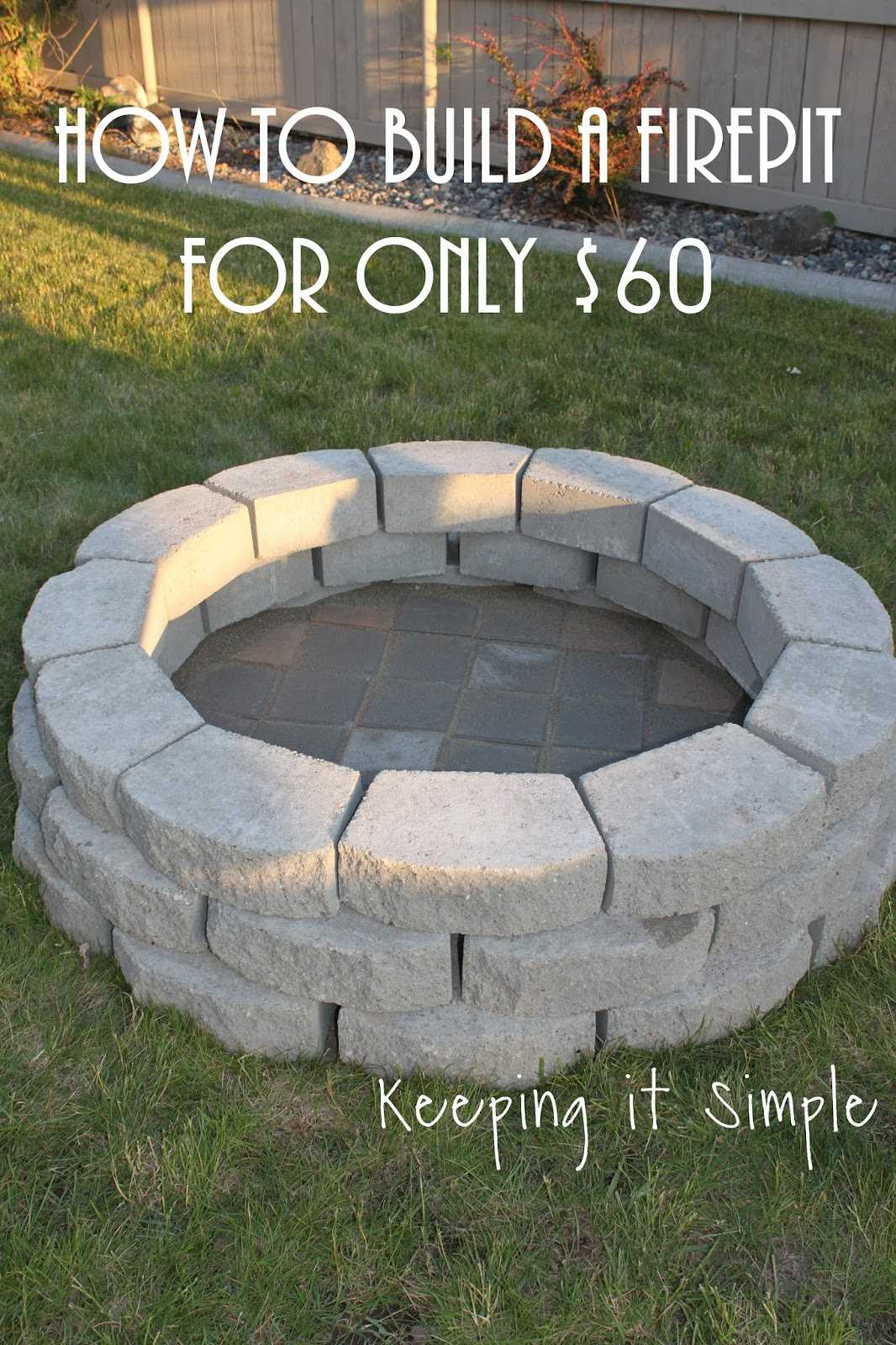 Everyone loves a beautiful but affordable DIY project and this fire pit made from grey pavers is incredible! Via Keeping It Simple Crafts