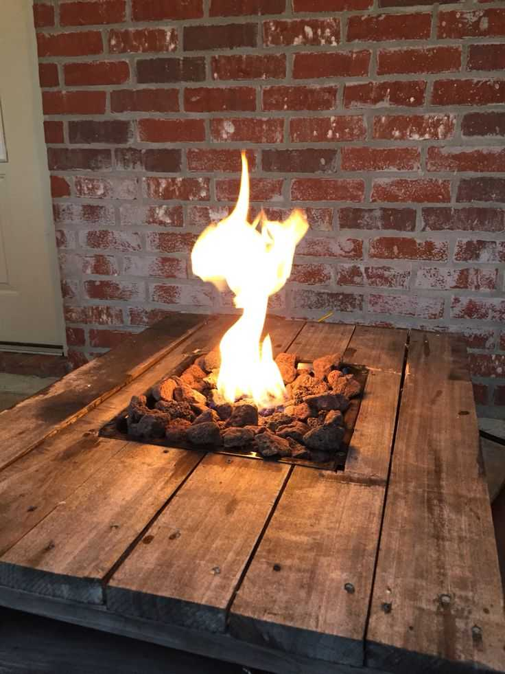This fire pit has been constructed within a rustic timber table. Via Renoguide