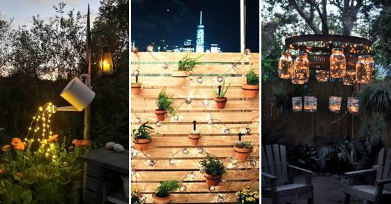 Backyard Lighting Decorating Ideas & Designs