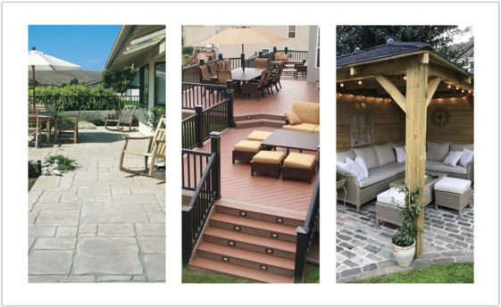 Patio layout Design Ideas