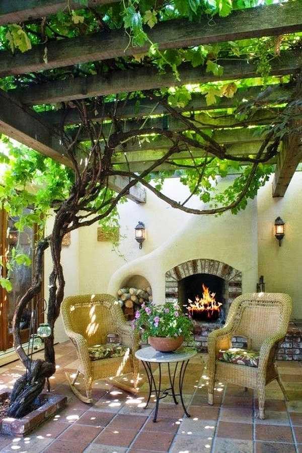 outdoor room Pergola Design Ideas12
