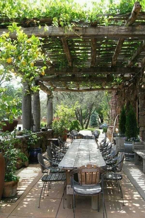outdoor room Pergola Design Ideas13