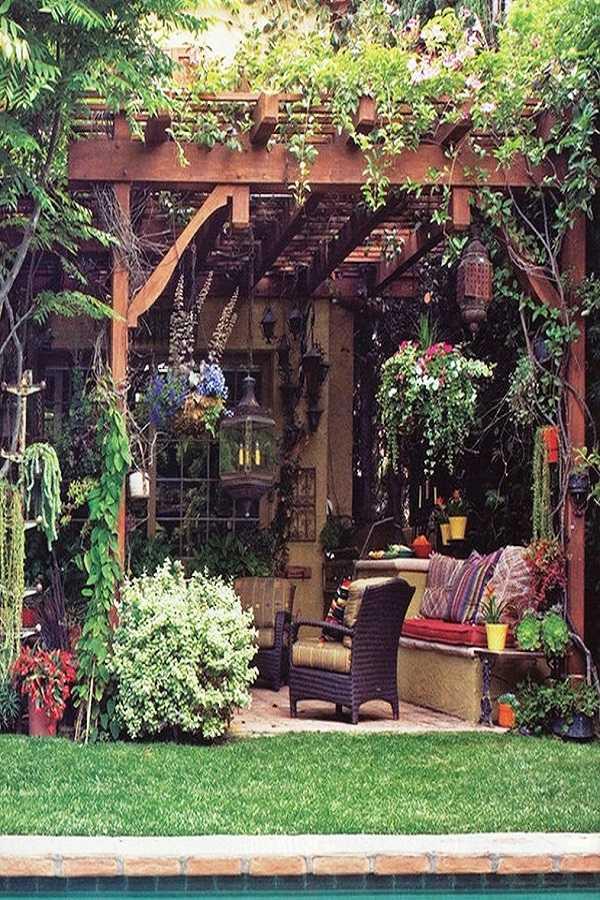 outdoor room Pergola Design Ideas16