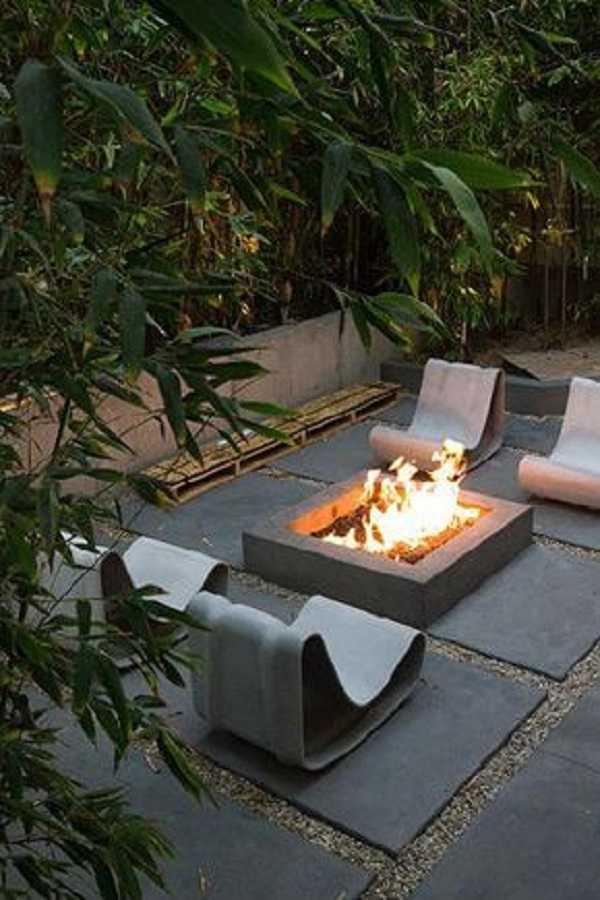 square Fire Pit Ideas18