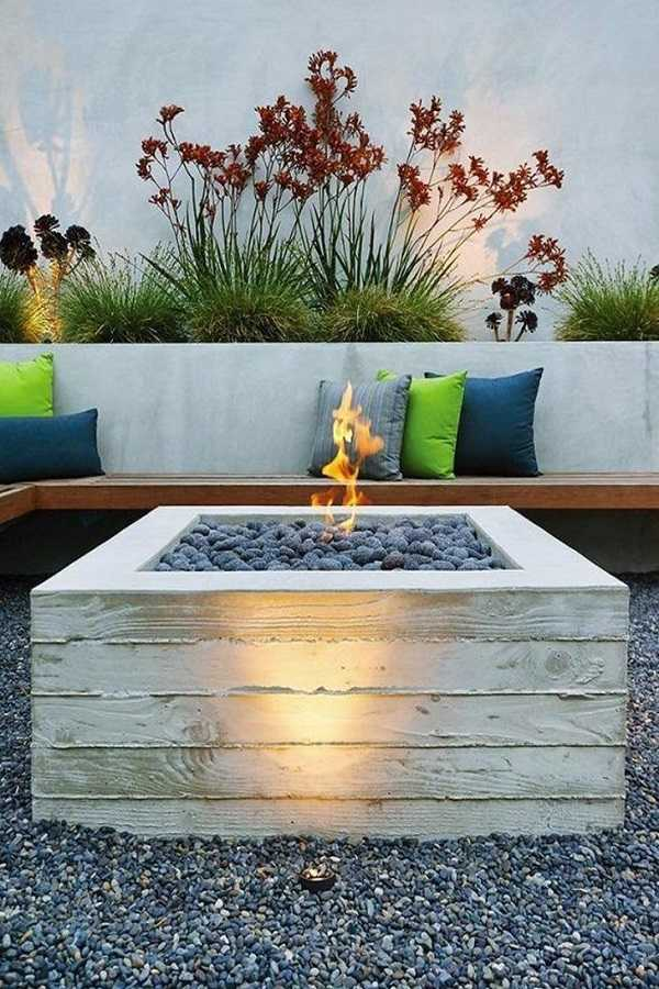 square Fire Pit Ideas21