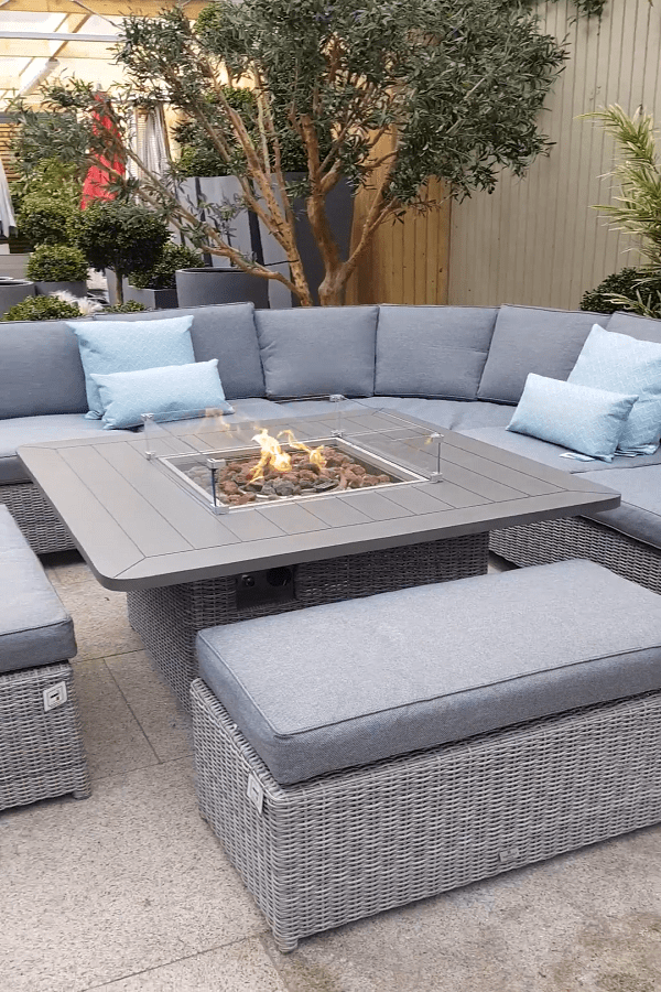 square Fire Pit Ideas23