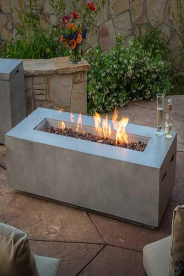 square Fire Pit Ideas27