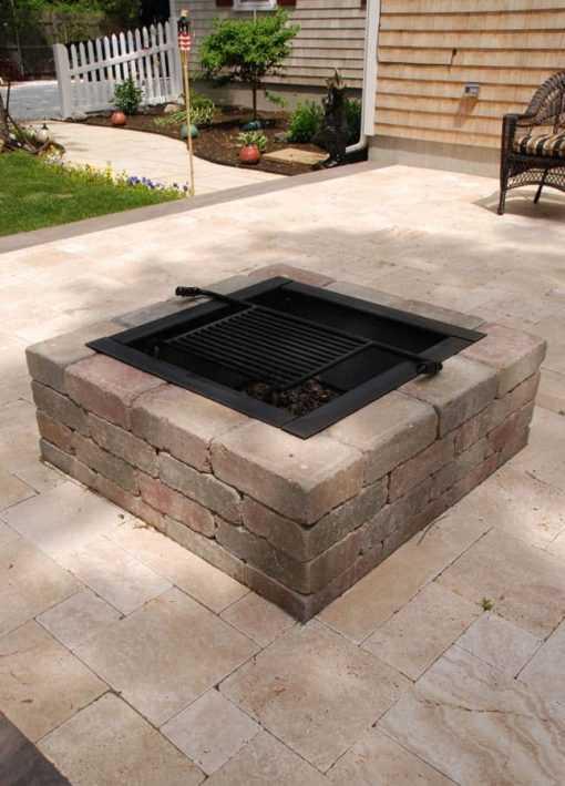 square Fire Pit Ideas7